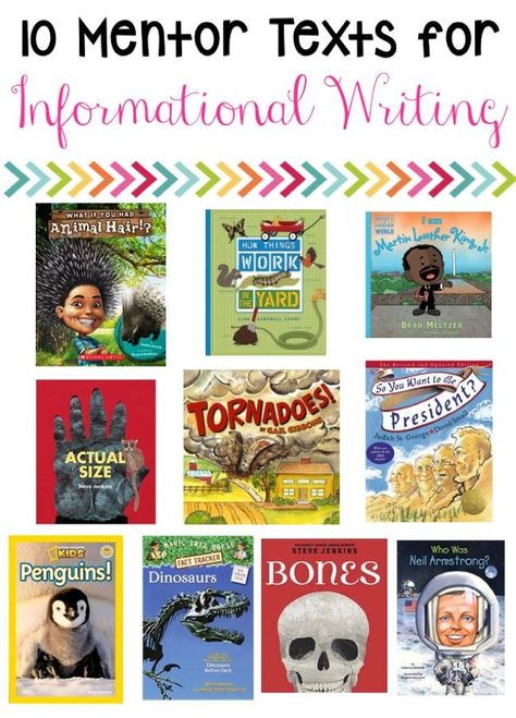 Writing with Mentor Texts - The Friendly Teacher