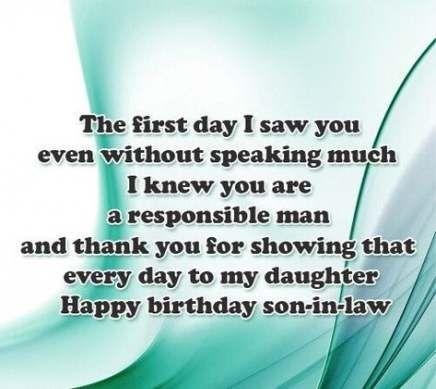 Birthday Wishes For Son In Law Lol 42 Super Ideas Birthday