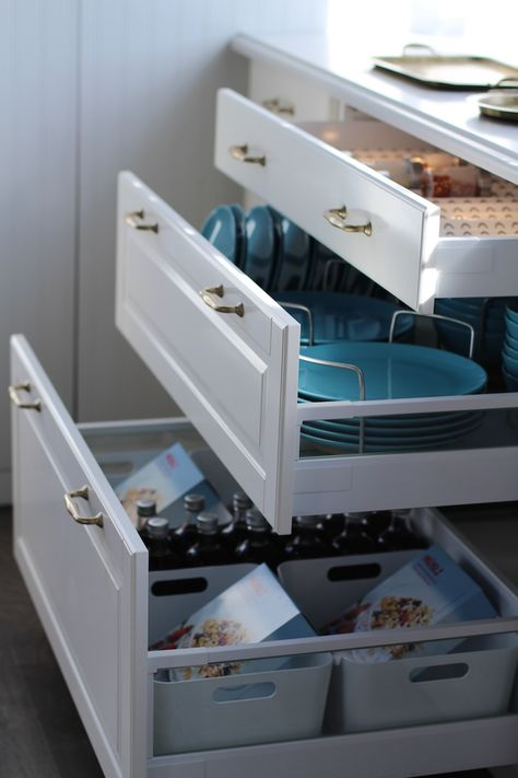 Drawers Instead Of Cabinet Doors Easier To Get To The Back Of The Cabinet Jillian Harris Ikea Sekt Ikea Kitchen Drawers Kitchen Drawers Ikea Kitchen Cabinets