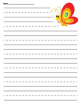 Lined Page Template Easter Basket Primary Lined Paper
