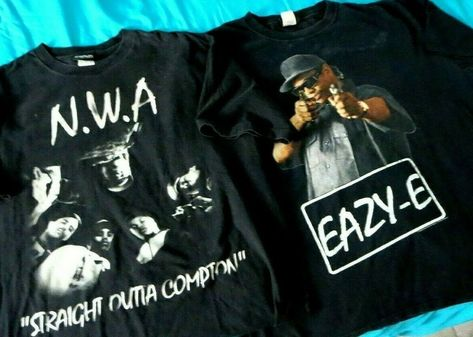 Eazy E Compton Raiders Mens T-Shirt NWA Oakland Ruthless Records Straight Outta