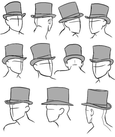 """tricotee: """" when I'm watching something and there are good hats in there I like to pause it periodically and sketch it out for reference and for practice I found some top hat sketches just now that. Top Hat Drawing, Drawing Poses, Drawing Tips, Art Reference Poses, Drawing Reference, Top Hat Centerpieces, Table Decorations, Poses References, Drawing Clothes"""