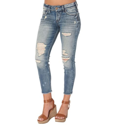a3f38e19 NEW Women's SILVER JEANS High Rise Dark Stevie Skinny Stretch Jean 18 Plus  x 31⚜ #SilverJeans #SlimSkinny   SILVER JEANS   Jeans, Silver jeans, High  jeans