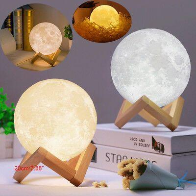 3d Usb Led Magical Moon Night Light Moonlight Table Desk Moon Lamp Home Decor Us Night Light Night Light Kids Led Night Light
