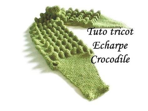Echarpe crocodile #modèle gratuit