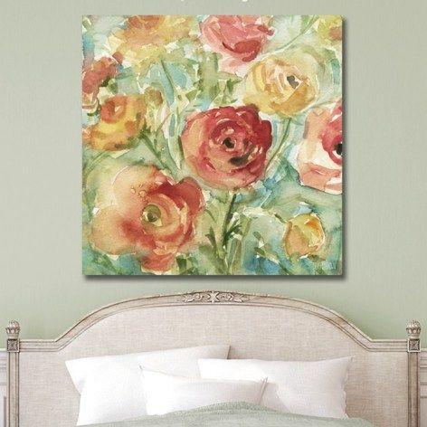 Ranunculus Floral Art Prints Large Canvas Wall Art Floral