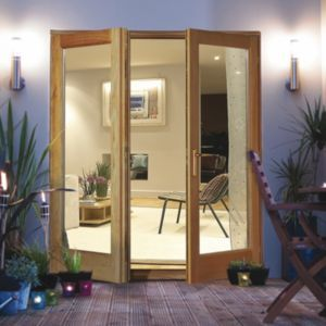 Clear Glazed Oak Veneer External French Door Set H 2100mm W 1200mm External French Doors French Doors French Doors Patio