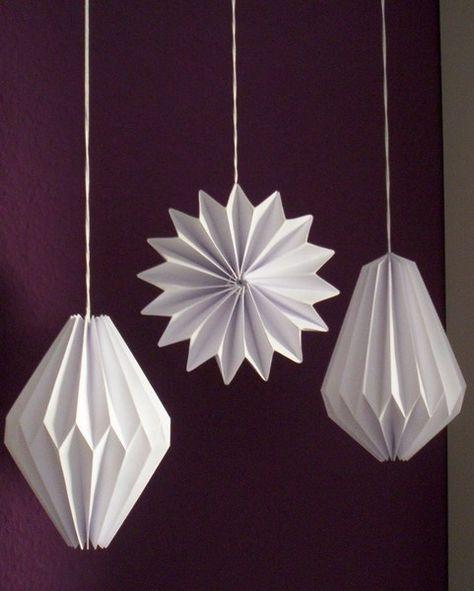Weihnachtskarten Origami.Pinterest