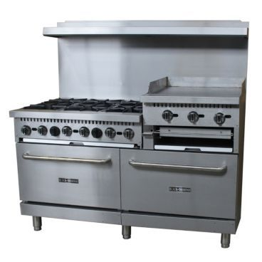 Empura Bdgr 6024gb Lp 36 Liquid Propane Gas Range With Griddle And Broiler 276 000 Btu With Images Gas Cooker Gas Stove Gas Range