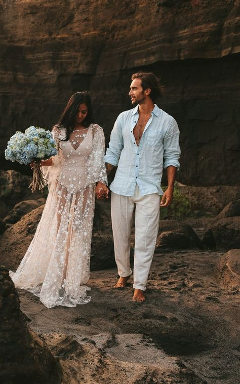 Counting Stars Boho Wedding Dress by Boom Blush. Unique Vintage Bohemian Backless Gown 2019 with Sleeves, Unique Lace and A Line Skirt Counting Stars Boho Wedding Dress by Boom Blush. Bohemian Wedding Dresses, Bridal Dresses, Wedding Gowns, Bridesmaid Dresses, Bohemian Beach Wedding, Wedding Bridesmaids, Bridal Gown, Women's Dresses, Counting Stars