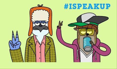 #RegularShow creator J.G. Quintel Speaks Up with original artwork in support of Stop Bullying: Speak Up! #ISpeakUp