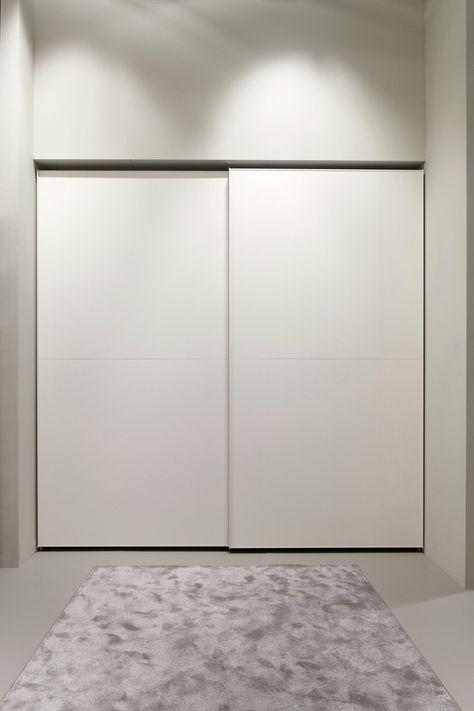 Armadio A Muro Scorrevole.Armadio A Muro In Melamina Con Ante Scorrevoli Dica Sliding Doors