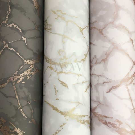 Charcoal and Copper Metallic Marble Wallpaper Fine Decor FD42267