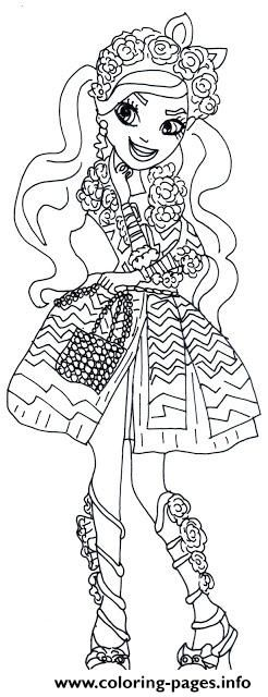 Print Spring Unsprung Kitty Chesire Ever After High Coloring Pages Coloring Pages Butterfly Coloring Page Animal Coloring Pages