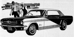 The 1965 Player's Mustang special edition was painted dark blue and white to match the Player's cigarette package.  Besides the unique paint they all were hardtops with 200ci 6-cylinder engine, full wheel covers, and an AM radio.