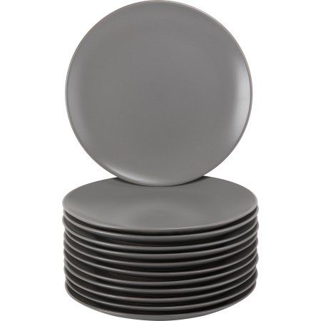10 Strawberry Street Matte Grey Coupe 10.5 Dinner Plate - Set of 12  sc 1 st  Pinterest & 10 Strawberry Street Matte Grey Coupe 10.5 Dinner Plate - Set of 12 ...