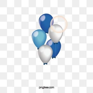 Texture Of Blue And White Balloons Blue White Balloon Png And Vector With Transparent Background For Free Download White Balloons Birthday Balloons Balloons