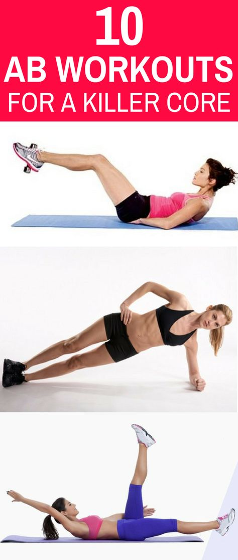10 Most Shared Ab Workouts to Burn Belly Fat