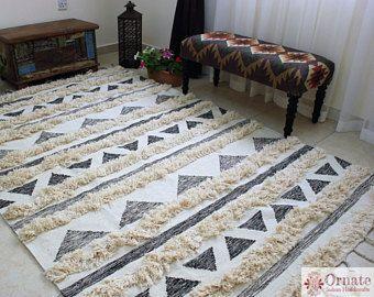 Harmoni Area Rug 100 Cotton Handwoven Rug Boho Rug Shaggy Rug N Minimalist Home Furniture Minimalist Living Room Design Minimalist Living Room Apartment