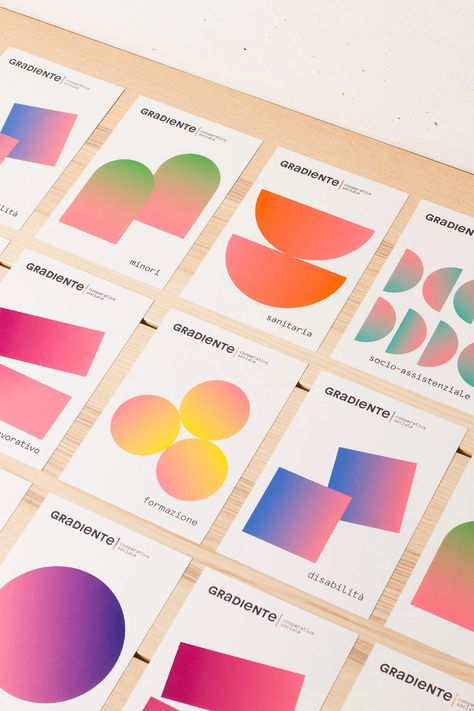 Gradiente Social Cooperative Branding by Mezzopieno Studio   Inspiration Grid