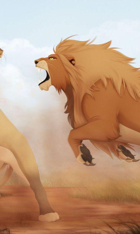 Lions Fight Artwork 4K 4k Ultra HD Desktop Background Wallpaper for 4K UHD TV : Tablet : Smartphone