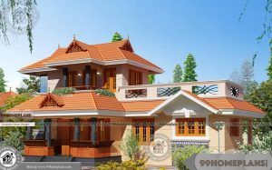 3 Bedroom House Plans In Kerala Double Floor Traditional Style Homes Kerala House Design Bedroom House Plans Kerala Traditional House
