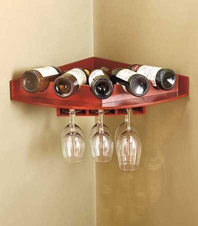 Corner Wall Wine And Glass Racks Wine Glass Rack Wine Rack Wall Wine Decor