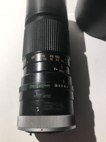 Canon Zoom Lens Fd 100 200mm 1 5 6 Lens With Case In 2021 Canon Zoom Lens Zoom Lens Lens