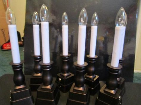 christmas window candles