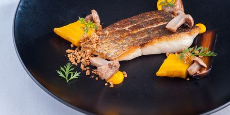 Recipe for Seared Sea Bass with Salt Baked Heritage Carrots - Great British Chefs