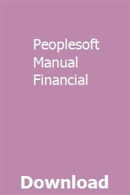 Peoplesoft Manual Financial With Images Repair Manuals Manual
