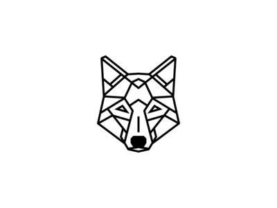 Simple geometric wolf tattoo design …