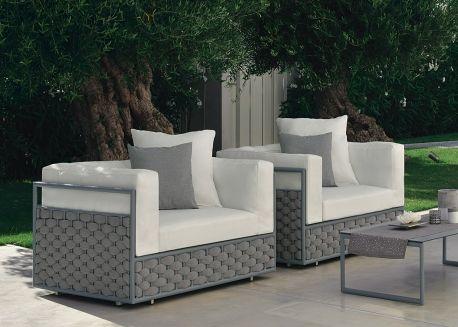 Fauteuil E Createur Italien Pour Terrasse Et Jardin Chez Ksl Living Fauteuil Jardin Fauteuil Design Jardins Gris