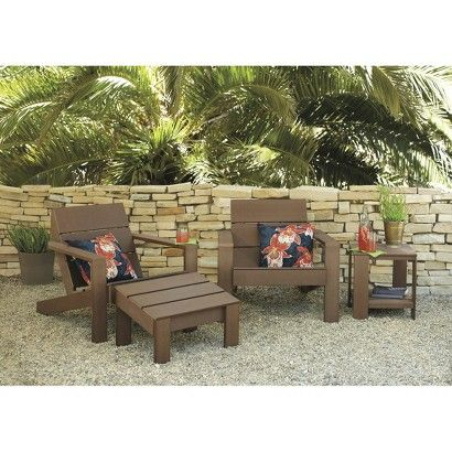Threshold™ Bryant Faux Wood/Sling Patio Furniture Collection | Landscaping  U0026 Gardening | Pinterest | Furniture Collection, Patios And Woods