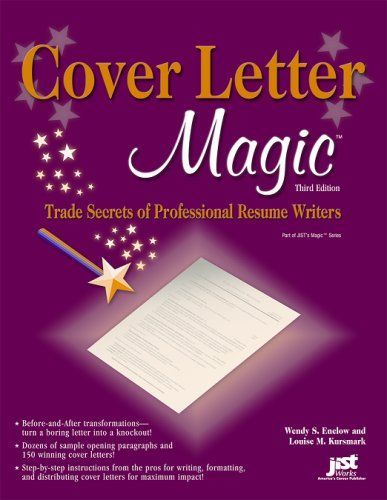 Cover letter magic  trade secrets of professional resume writers - professional resume and cover letter services