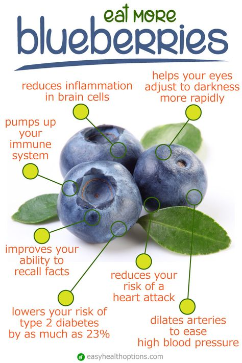As if one needed any more reason to get a daily serving of tart, juicy blueberries other than their flavor, this superfruit is packed tons of benefits for your heart, brain and more.