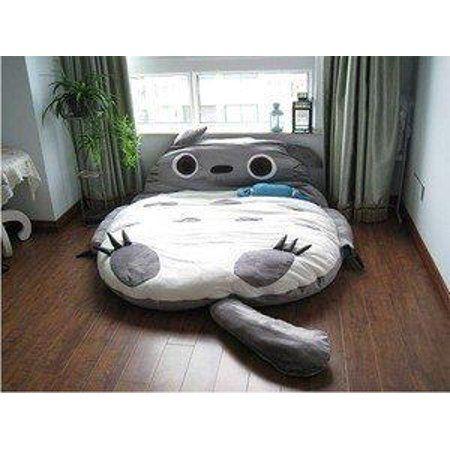 Excellent Khunda 310180Cm Huge Cute Cartoon Totoro Double Bed Sleeping Alphanode Cool Chair Designs And Ideas Alphanodeonline
