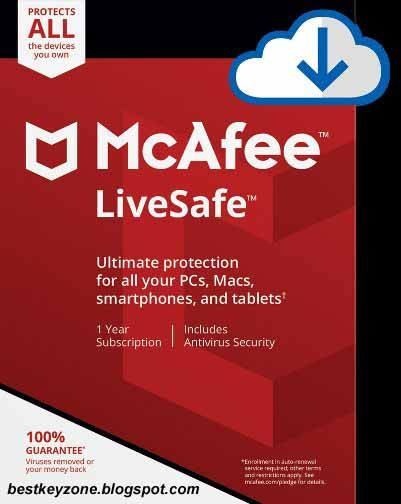 McAfee LiveSafe ADT Security 2018 Free License Key For 1