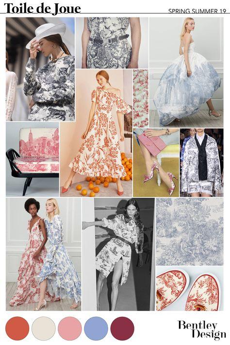 Freelance Fashion Designer - SS19 PRINTS: TOILE DE JOUE