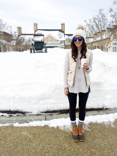 Snowcation: Salamander Resort & Spa #ootd #blogger #virginia #beanboots #jcrew #puffervest #winter #preppy