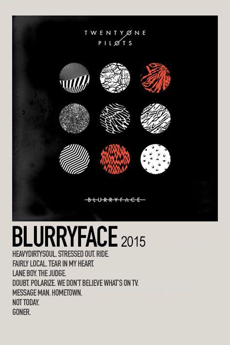 Blurryface By Jessi Music Poster Design Music Poster Ideas Minimalist Music