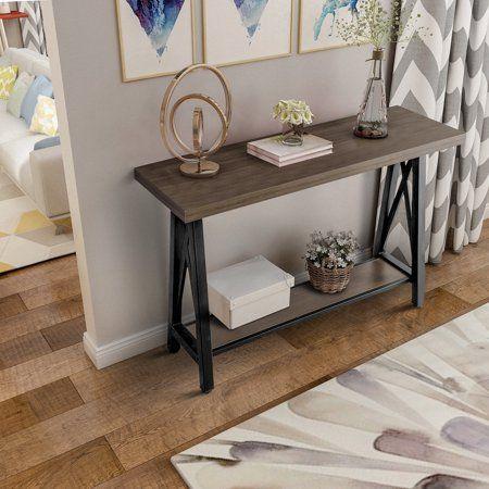 Harper Bright Designs Accent Console Sofa Table With Storage Shelf Walmart Com Large Console Table Sofa Table With Storage Sofa Table