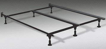 Heavy Duty King Metal Bed Frame With Center Support And 6 Glide