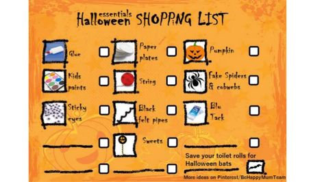Halloween Shopping List