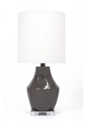 Gallery Designs Lighting Oyster Linen Shade On Gauntlet Gray