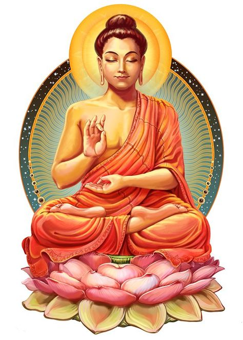 Illustration mit Buddha in Meditation. Gautama Buddha, Buddha Buddhism, Buddhist Art, Buddha Meditation, Vipassana Meditation, Buddha Tattoos, Ganesha Painting, Buddha Painting, Gautam Buddha Image