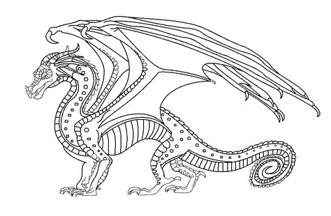 Silkwing Wings Of Fire Coloring Pages Blazck And Whitwe ...