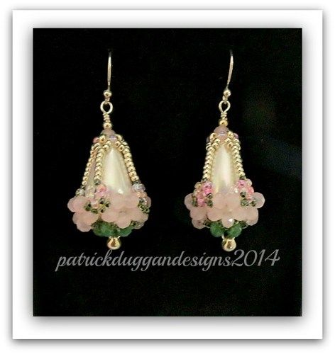 """A Basket of Blooms"" earring - Tutorial by patrickduggandesigns"