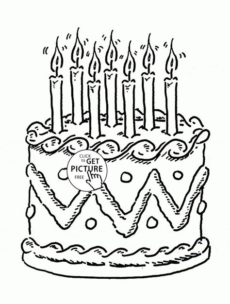 30 Great Picture Of Birthday Cake Coloring Page Albanysinsanity Com Birthday Coloring Pages Coloring Pages Free Birthday Stuff