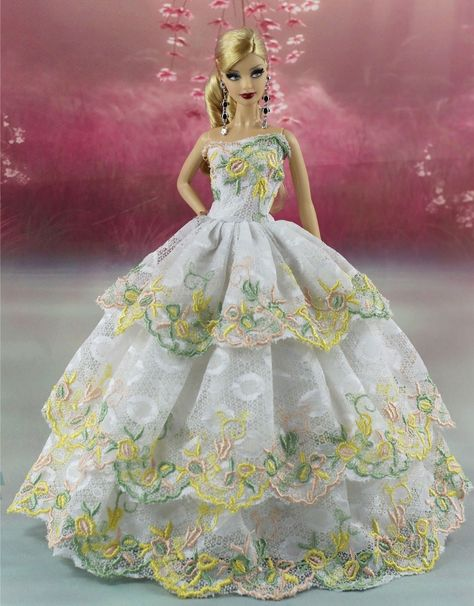 Rainbow Color Fashion Princess Party Dress//Clothes//Gown For 11.5in.Doll K01